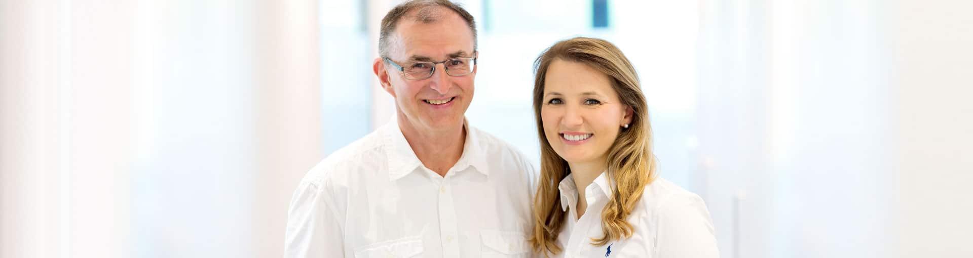 Zahnarzt Dr. Gerhard Fries und Zahnärztin Dr. Martha Hoh
