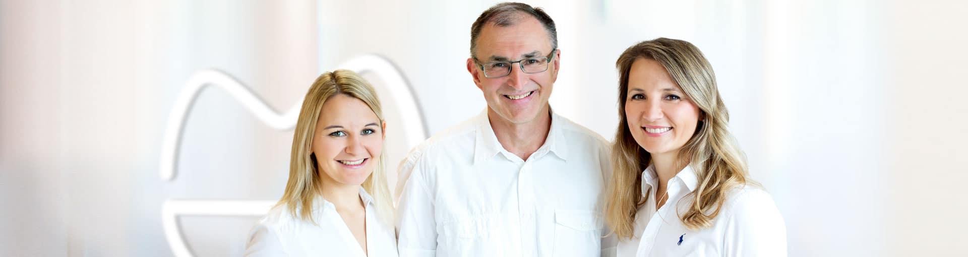 Headerbild mit Dr. Hoh, Dr. Fries und Dr. Lorenz der Zahnarztpraxis medicodent in Idstein